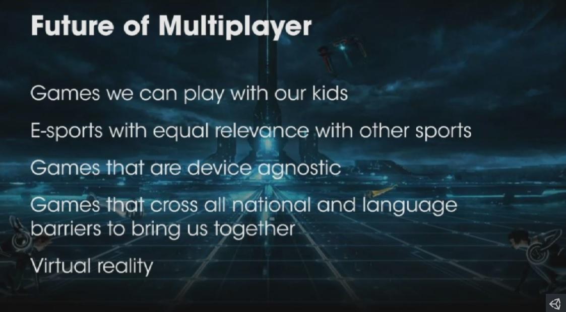 Unity's Rob Pardo describes the future of multiplayer
