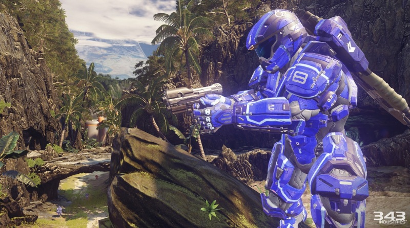 Warzone battle in Halo 5: Guardians multiplayer.