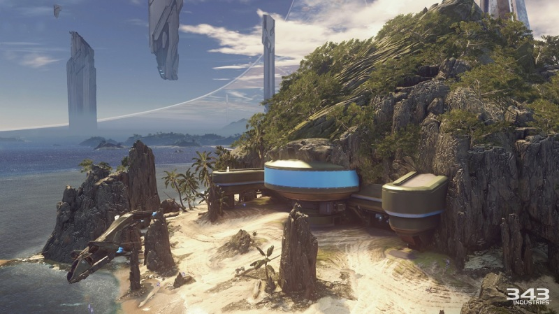Warzone map Raid on Apex7 in Halo 5: Guardians multiplayer.