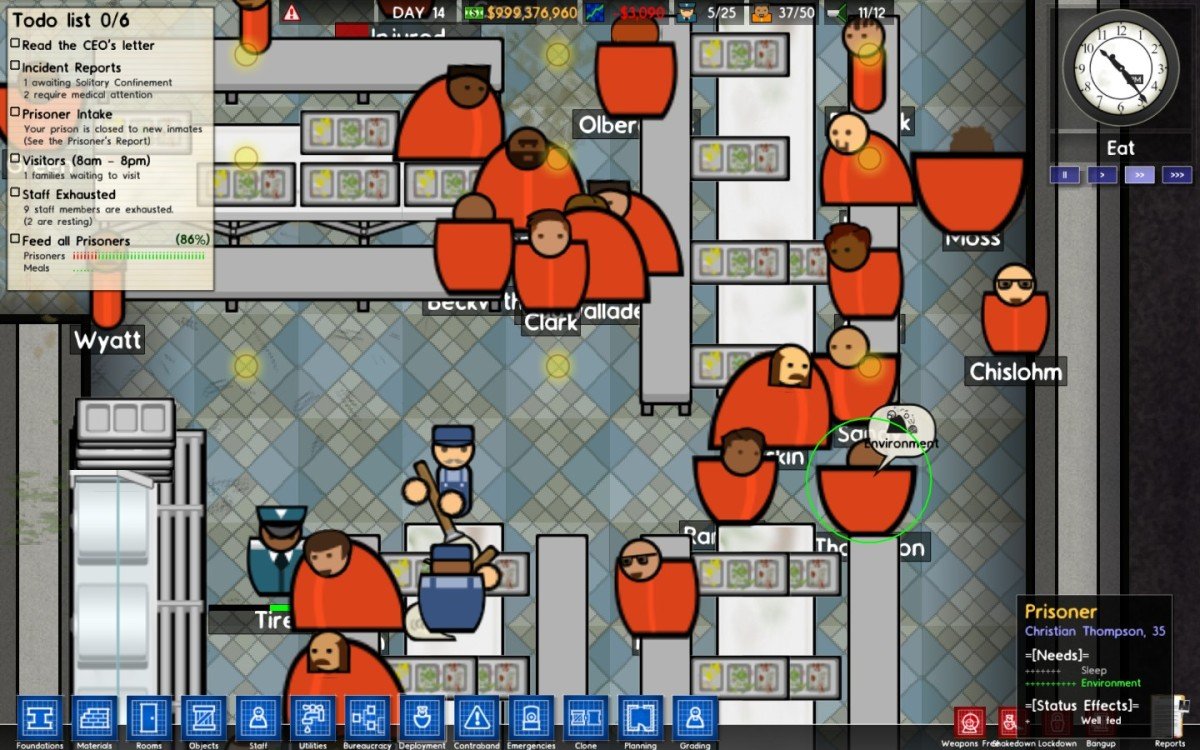 Feed the prisoners!