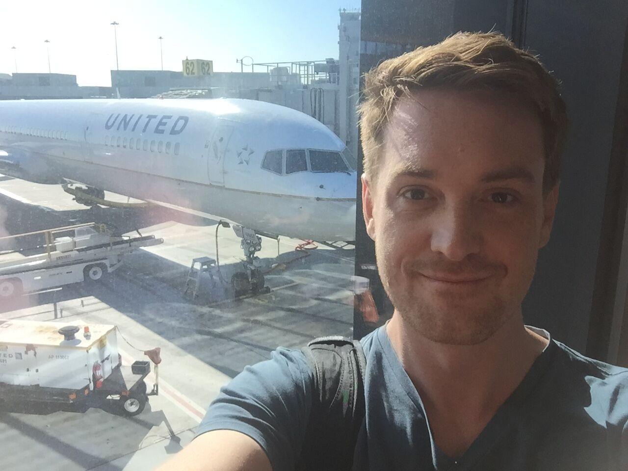 Chris Benjaminsen, the globe-trotting indie developer, on his way to Toronto.