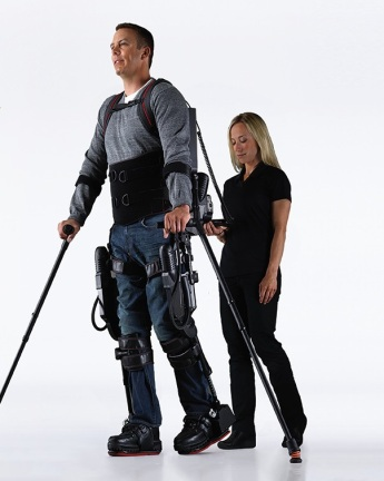 EksoBionics' exoskeleton robot can help in the rehabilitation of injured military personnel.