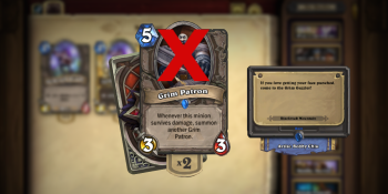Hearthstone's Grim Patron meets a grim fate on the eve of BlizzCon