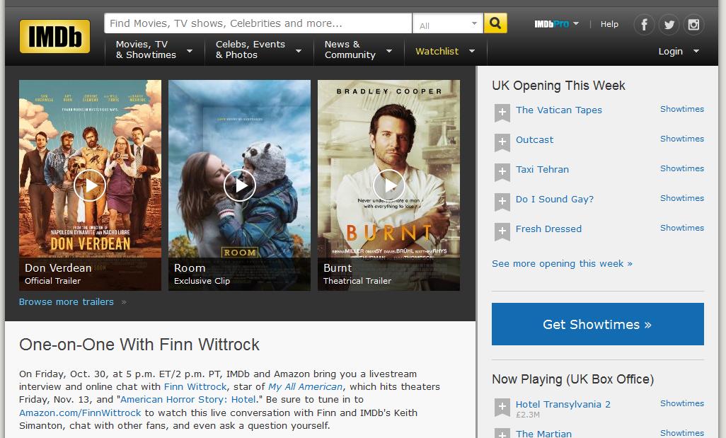 Imdb movie database