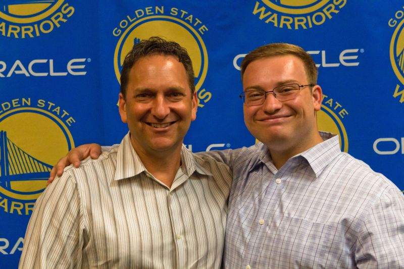 Golden State Warriors' VP of Digital and Marketing Kenny Lauer and Digital Marketing Lead Daniel Brusilovsky.