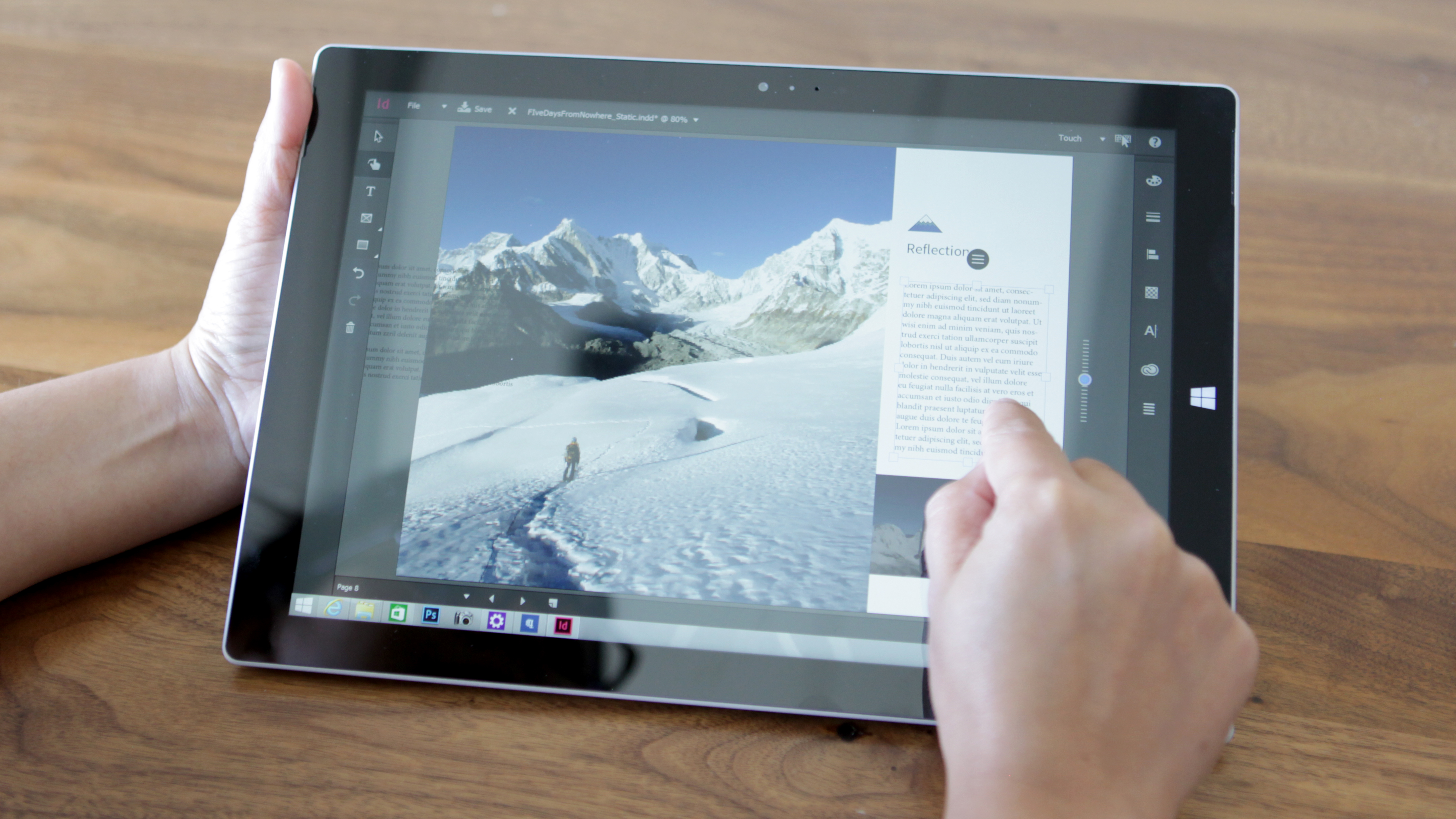 InDesign Touch Workspace