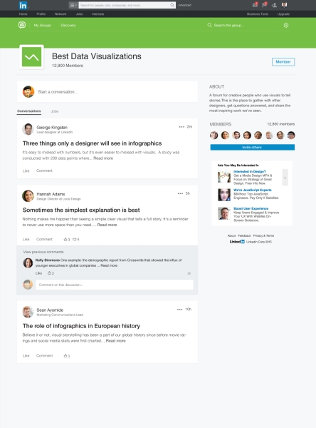 LinkedIn Groups: News Feed