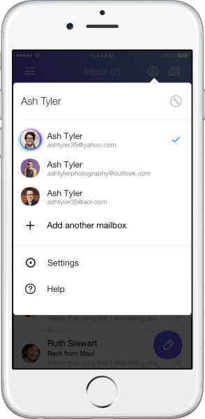 Multiple Mailboxes_Account View on Mobile