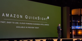 Amazon launches QuickSight, a cloud-based business intelligence tool