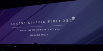 Amazon launches Kinesis Firehose, a tool for sending streaming data into the cloud