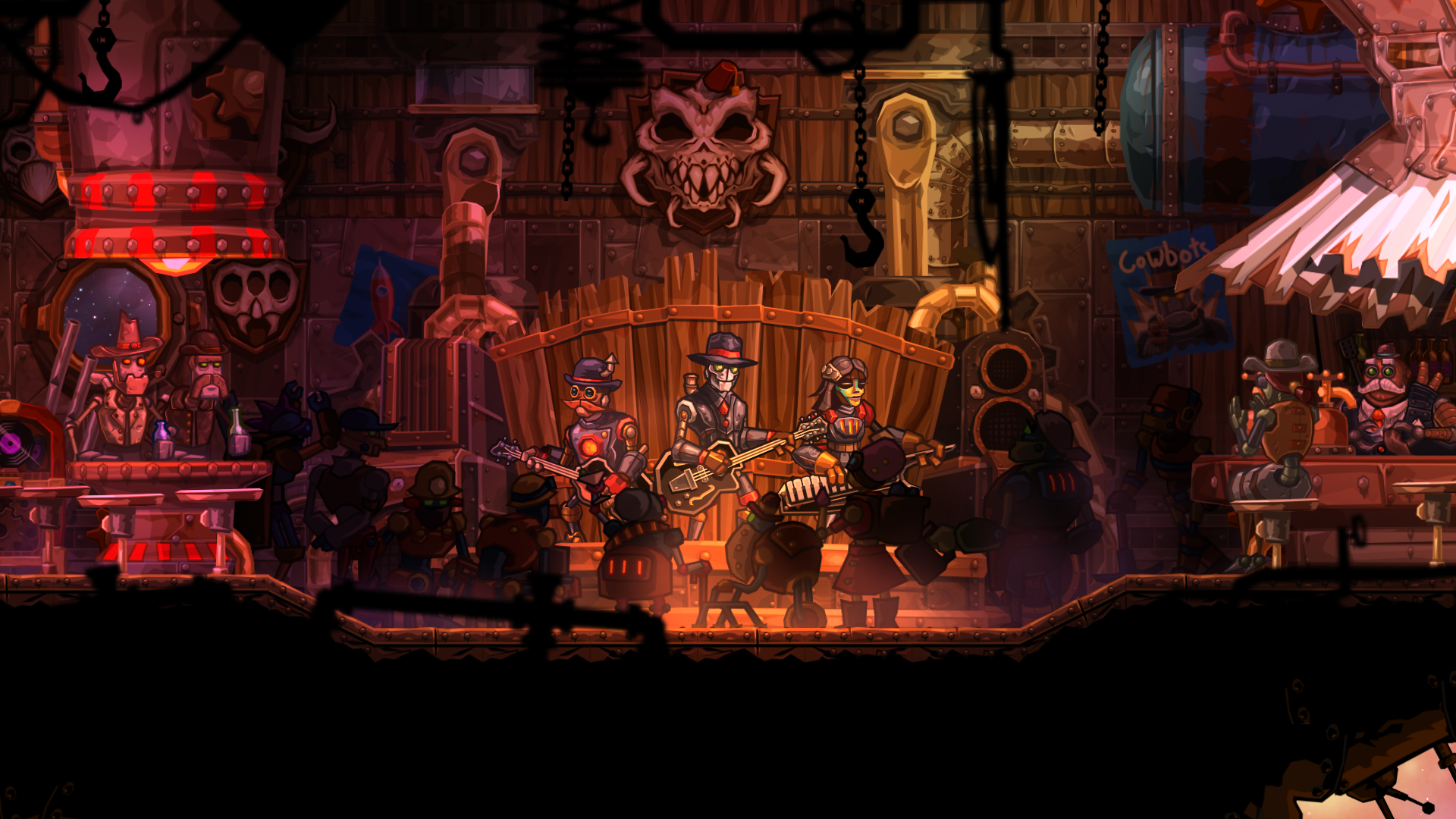Image & Form teamed up with Steam Powered Giraffe for SteamWorld Heist's soundtrack.