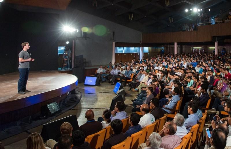 Mark Zuckerberg in Delhi