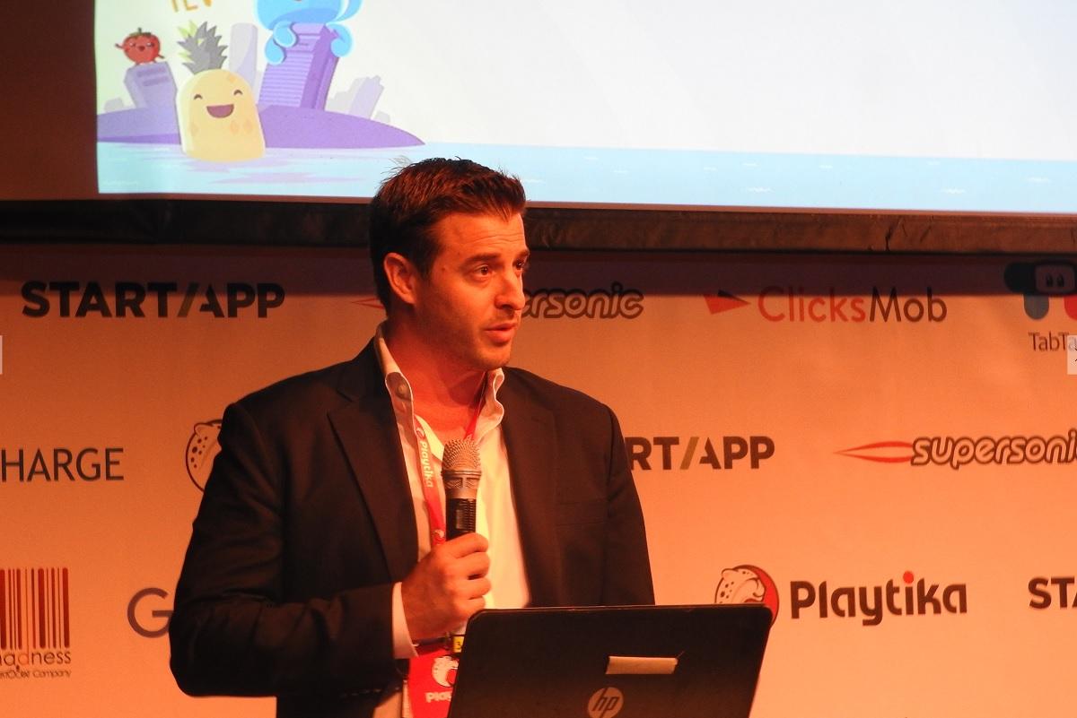 Adam Krejcik, managing director of digital and interactive gaming at Eilers Research, speaks at Casual Connect Tel Aviv.