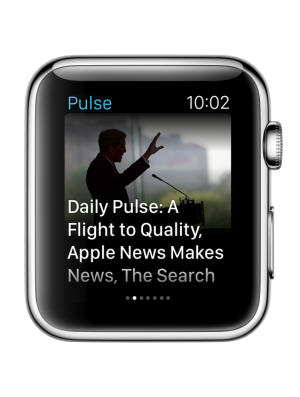 Image of what LinkedIn Pulse looks like on the Apple Watch.