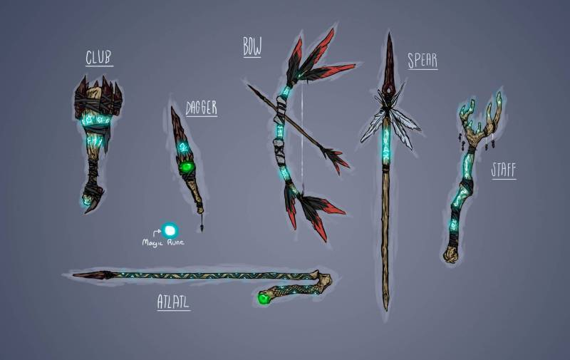 Weapons from Mulaka, by Lienzo
