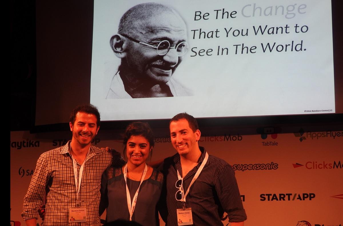Justin Hefter, Ammoun Dissi, and Itay Furman of Bandura Games.