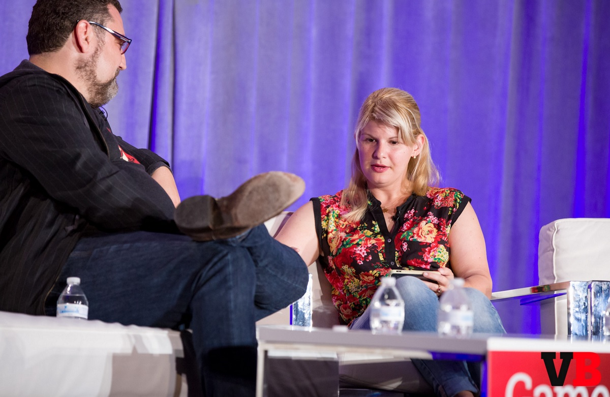 Chris Heatherly of Disney (left) and AJ Glasser of Facebook at GamesBeat 2015.