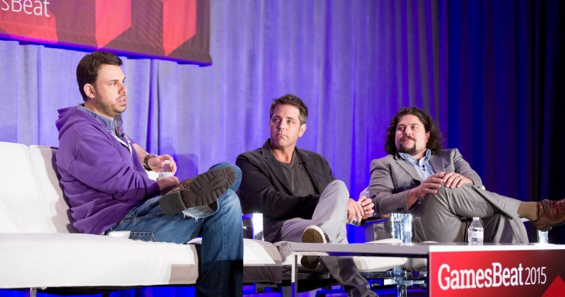 Greg Vederman of Twitch, Matt Wolf of Coca-Cola, and Jeff Grubb of GamesBeat at GamesBeat 2015.