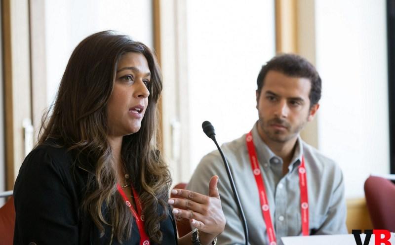 Asra Rasheed of Disney and Justin Hefter of Bandura Games at GamesBeat 2015's diversity panel.