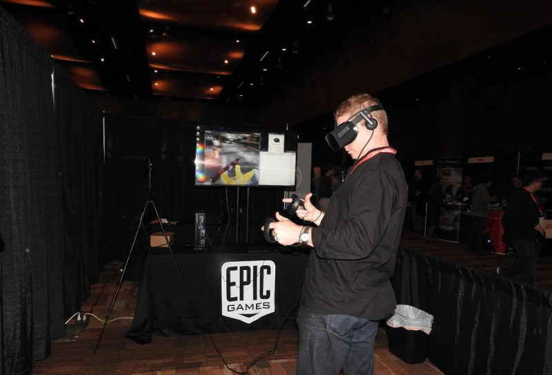 Demo of Bullet Time using Oculus Touch controller and Oculus Rift headset at SEA VR.