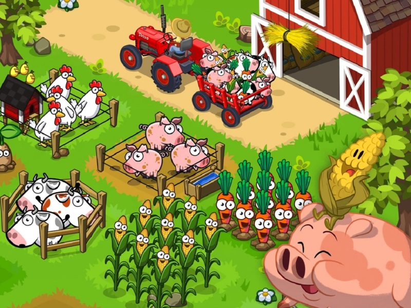 Farm Away! is an ad-based mobile game.