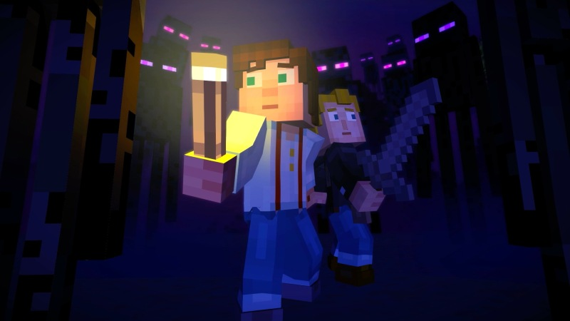 A screenshot from Minecraft Story Mode.