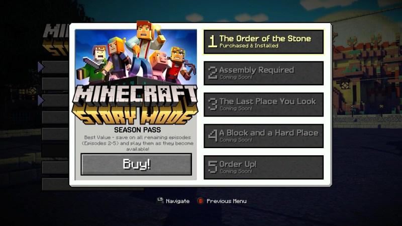 Minecraft Story Mode (image: Telltale Games)
