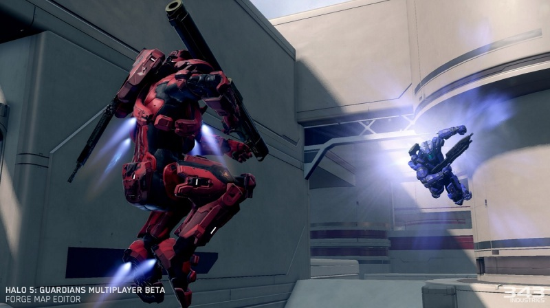In Halo 5: Guardians, you can jump in the air and change directions using stabilizers.