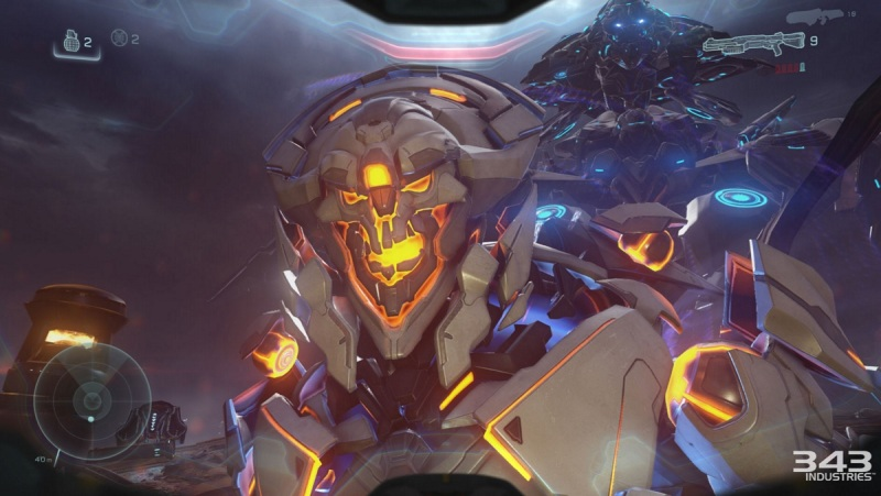 One of the tougher bosses in Halo 5: Guardians.