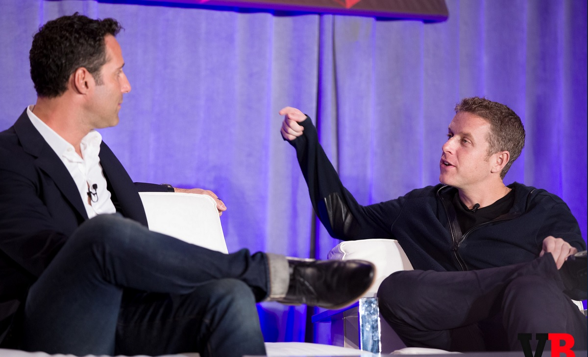 Jason Rubin of Oculus VR and Geoff Keighley of the Game Awards at GamesBeat 2015.