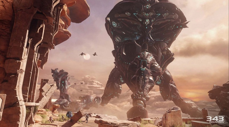 The Kraken warship is one of the big boss obstacles in Halo 5: Guardians.