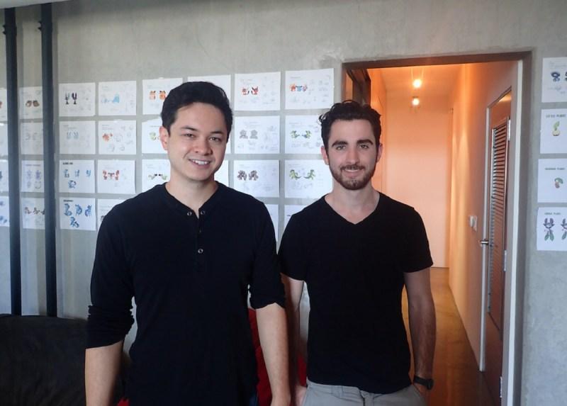 Josh Buckley (left) and Sasha MacKinnon, cofounders of Mino Games.