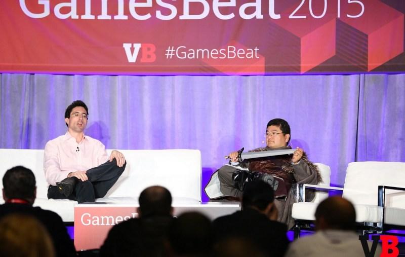 Niccolo De Masi of Glu Mobile and Dean Takahashi of VentureBeat at GamesBeat 2015.