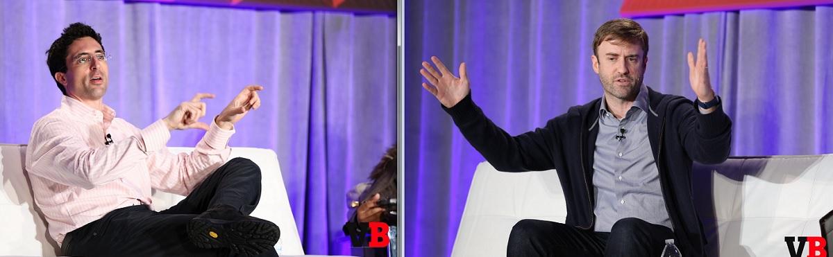 Niccolo De Masi, CEO of Glu Mobile, and Gabe Leydon, CEO of Machine Zone.