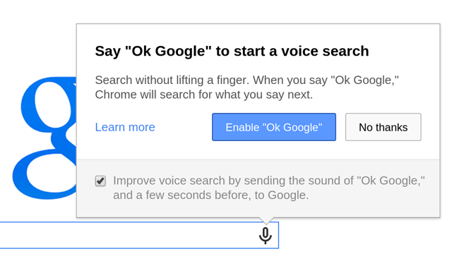Google removes 'OK Google' voice search from Chrome ...