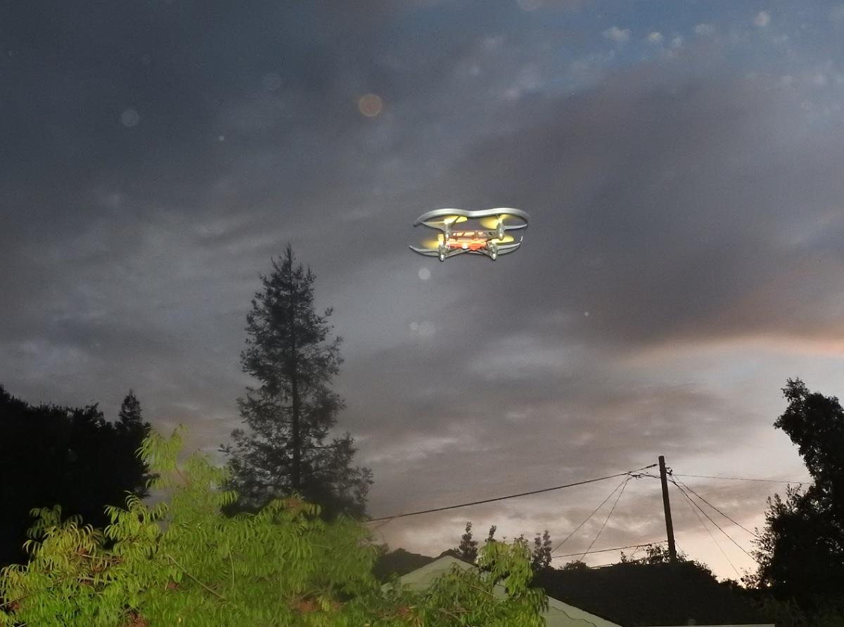 Hands On With The Parrot Airborne Night Minidrone Venturebeat Minidrones Hydrofoil Drone Orak