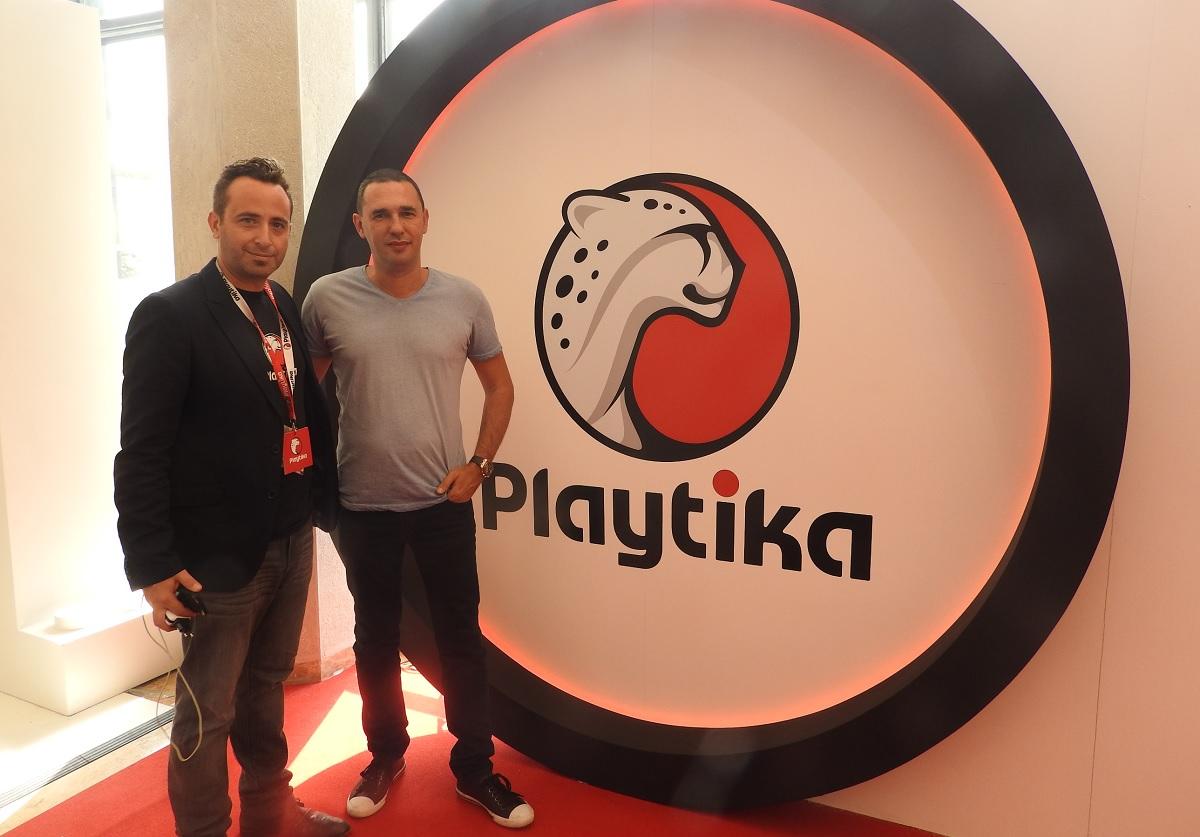 Elad Kushnir (left) and Robert Antokol of Playtika.