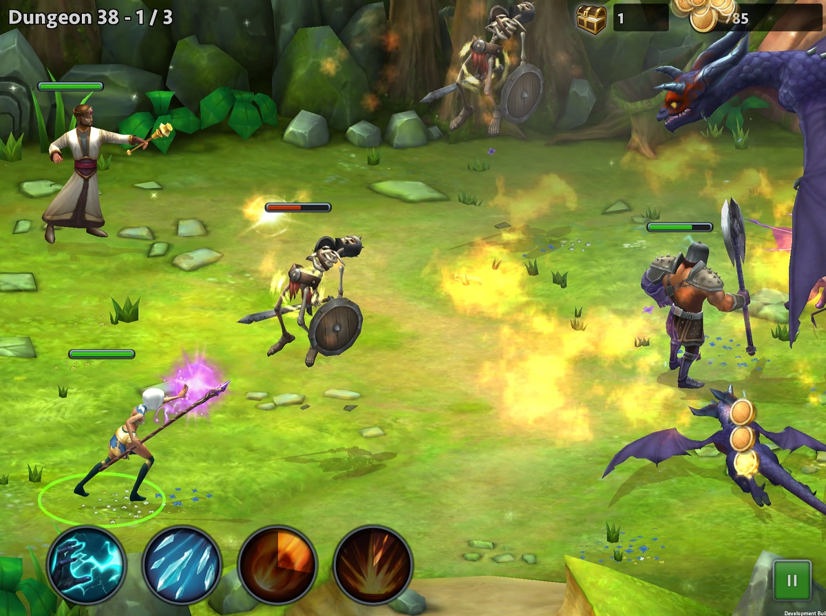 Battle in RPG Quest of Heroes.