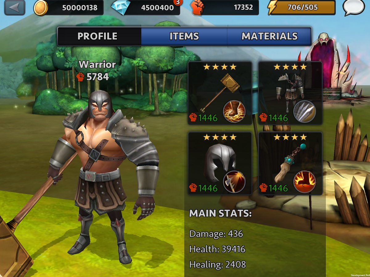 Character in Quest of Heroes.