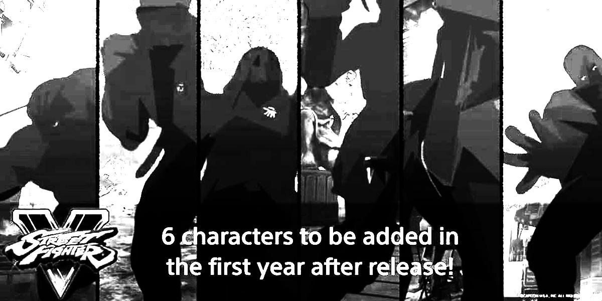 Street Fighter V mystery black and white