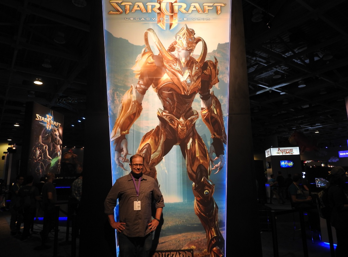 Tim Morten, lead producer at Blizzard on Legacy of the Void, at TwitchCon