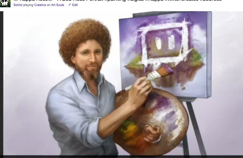Art by Bob Ross to be highlighted on Twitch Creative.