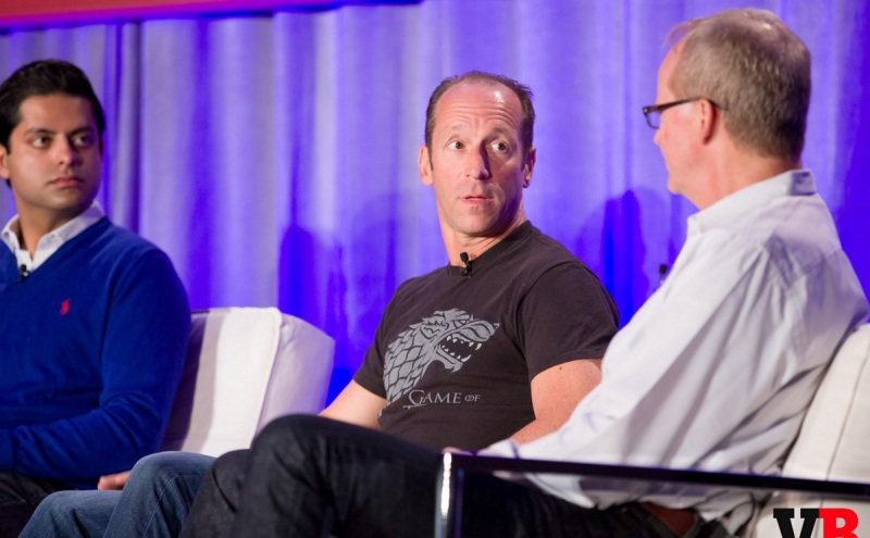 Phil Sanders of IDG Ventures with Martin Rae of AIAS at GamesBeat 205.