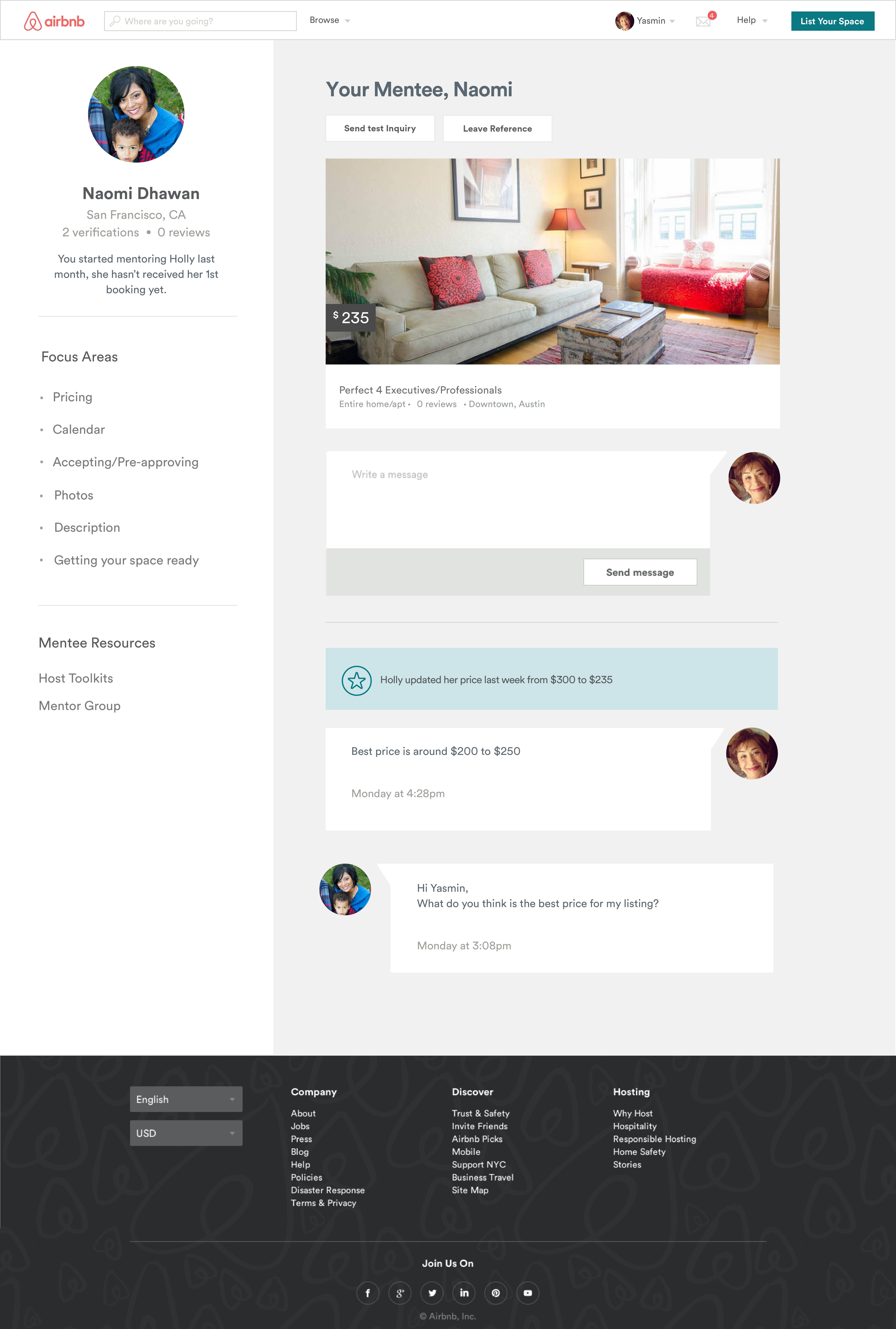Airbnb Mentors