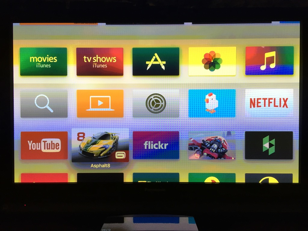 The new Apple TV homescreen will be kind of empty until you populate it from the App Store. Photo by Simon Cohen