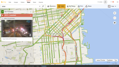 Bing Maps now shows road conditions using 35,000 cameras in