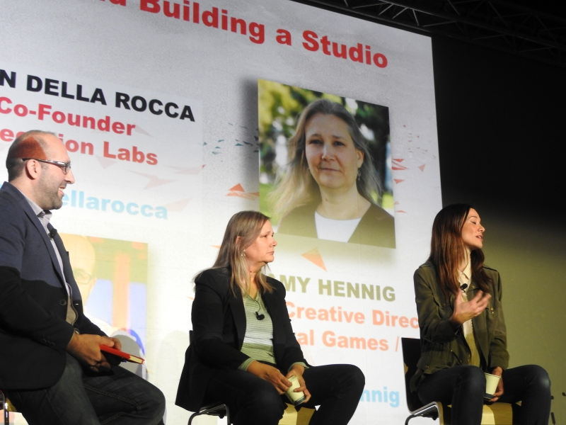 Jason Della Rocca, Amy Hennig, and Jade Raymond talk about the creative process at MIGS 15.