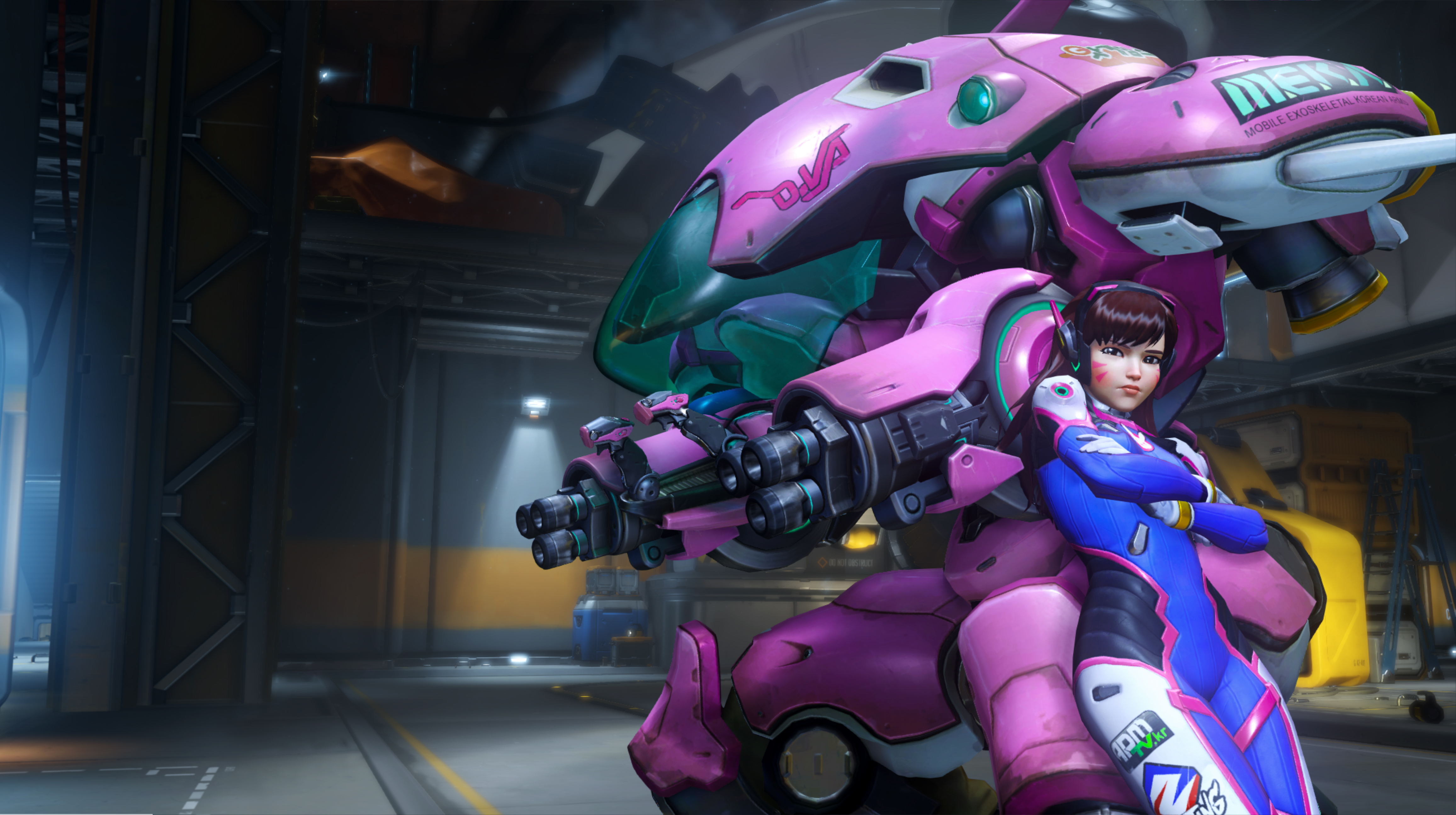 D.Va in Overwatch: She's a mech. And she's pink. And she'll kill you.