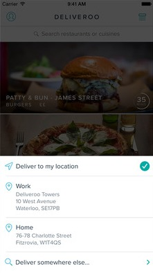Deliveroo for iOS