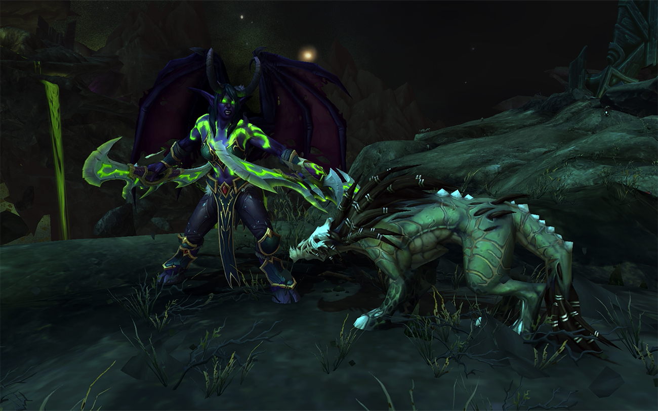 World of Warcraft Demon Hunter combat